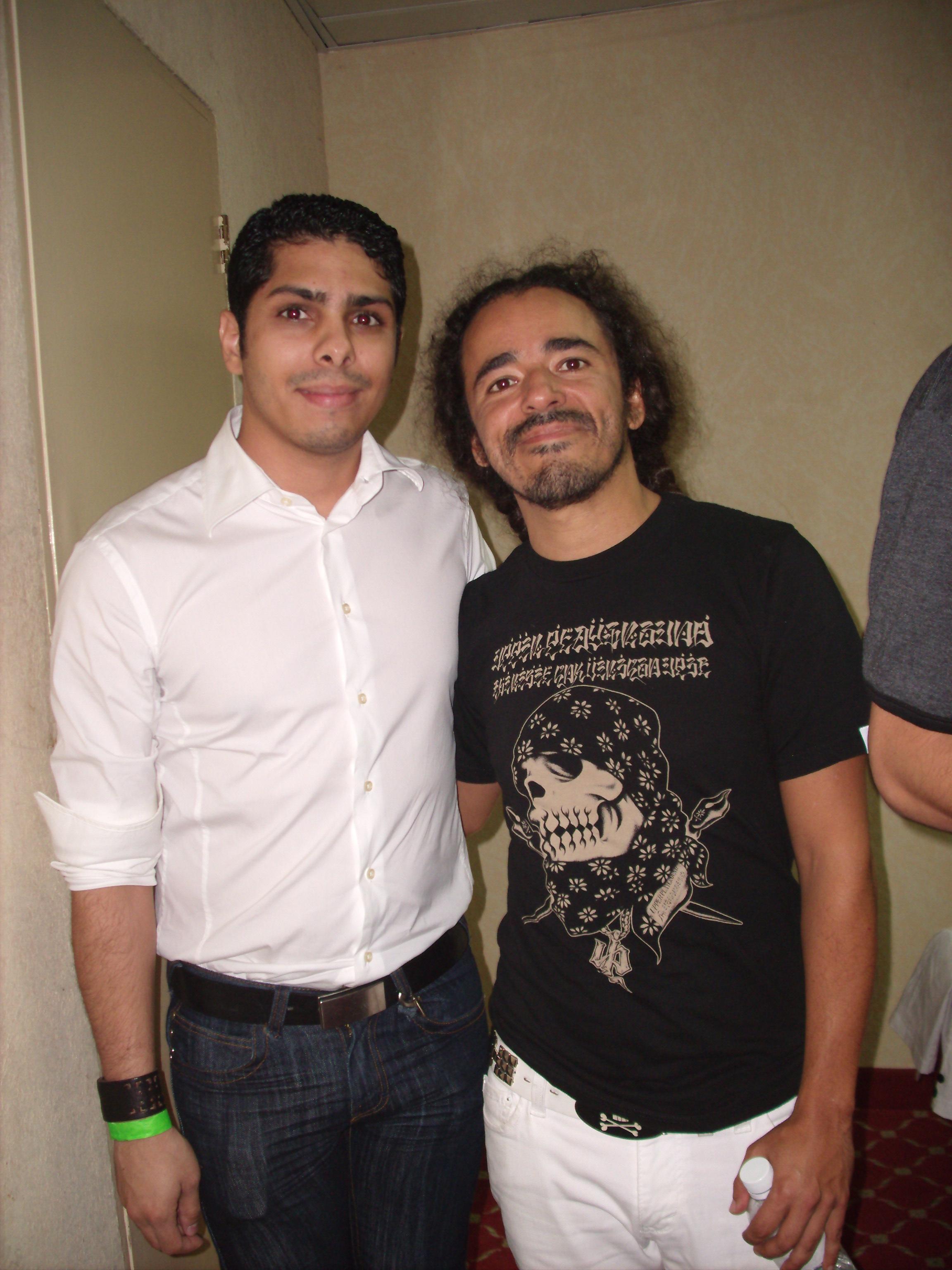 Rubén Albarrán, de Café Tacuba, y Samir Saba