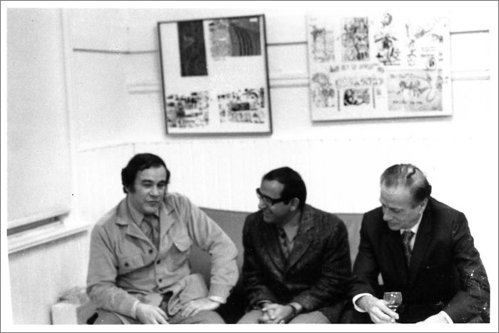 Av Isaacs, P. Mansaram, and Marshall McLuhan, Toronto, 1974. From the personal collection of P. Mansaram.