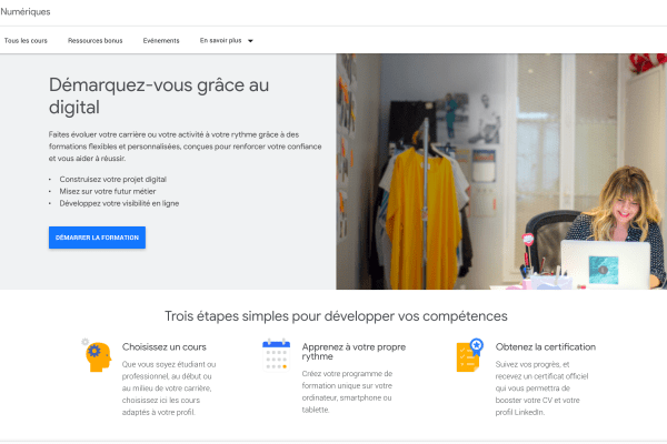 Ateliers Numeriques Google : la formation gratuite pour le marketing digital