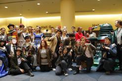 Doctor Who Group Cosplay shot, Toronto ComiCon 2013
