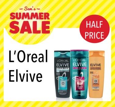 Sam McCauleys Summer Sale Half Price L'Oreal Elvive