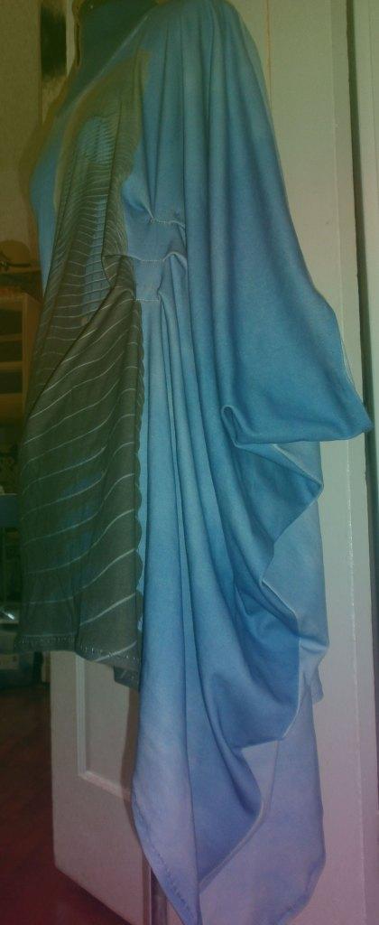 """""""Aqua"""" Inspired Garment Side"""