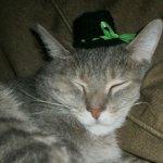 Xev wearing Crocheted Top Hat w/ribbon