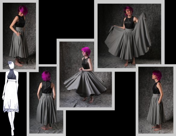 Four Circle Skirt from the Greyscale Colllection