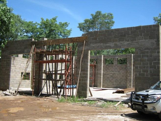 Last reinforced concrete lintel poured!