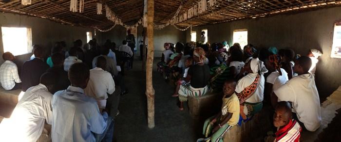 Nampula church full of pastors and wives