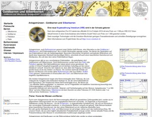 Anlagemünzen – Goldbarren und Silberbarren
