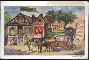 Blechpest pur: Werbung wohin das Auge blickt (Paris, um 1910)