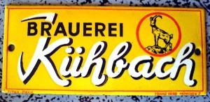 Kühbach, Türschild, 20er