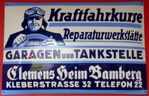 Clemens Heim, Bamberg - Emailleplakat 1920er Jahre