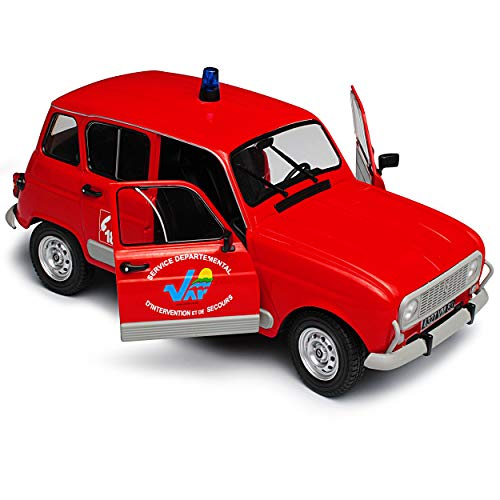 Solido Renault R4 4L GTL 5 Clan Türer Rot Feuerwehr 1961