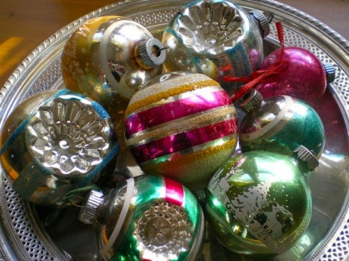 Vintage Christmas Tree Ornament Glass Balls Classic