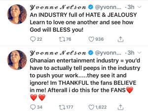 Ghanaian Entertainment Industry is full of Hate & Jealousy – Yvonne Nelson 5