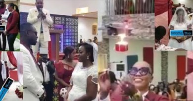 Video: Drone flies ring to Funny Face ex-wife and husband's white wedding