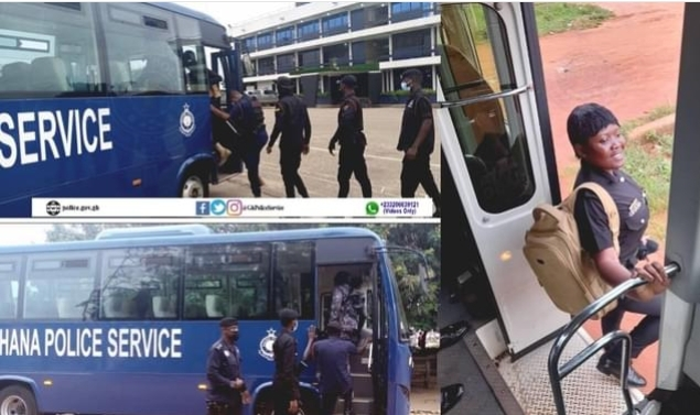 Ghana Police Service Introduces Shuttle Services For its Personnel