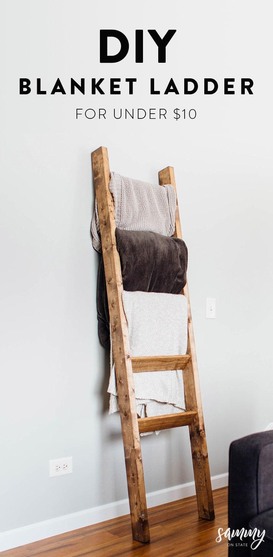 diy rustic blanket ladder sammy on state