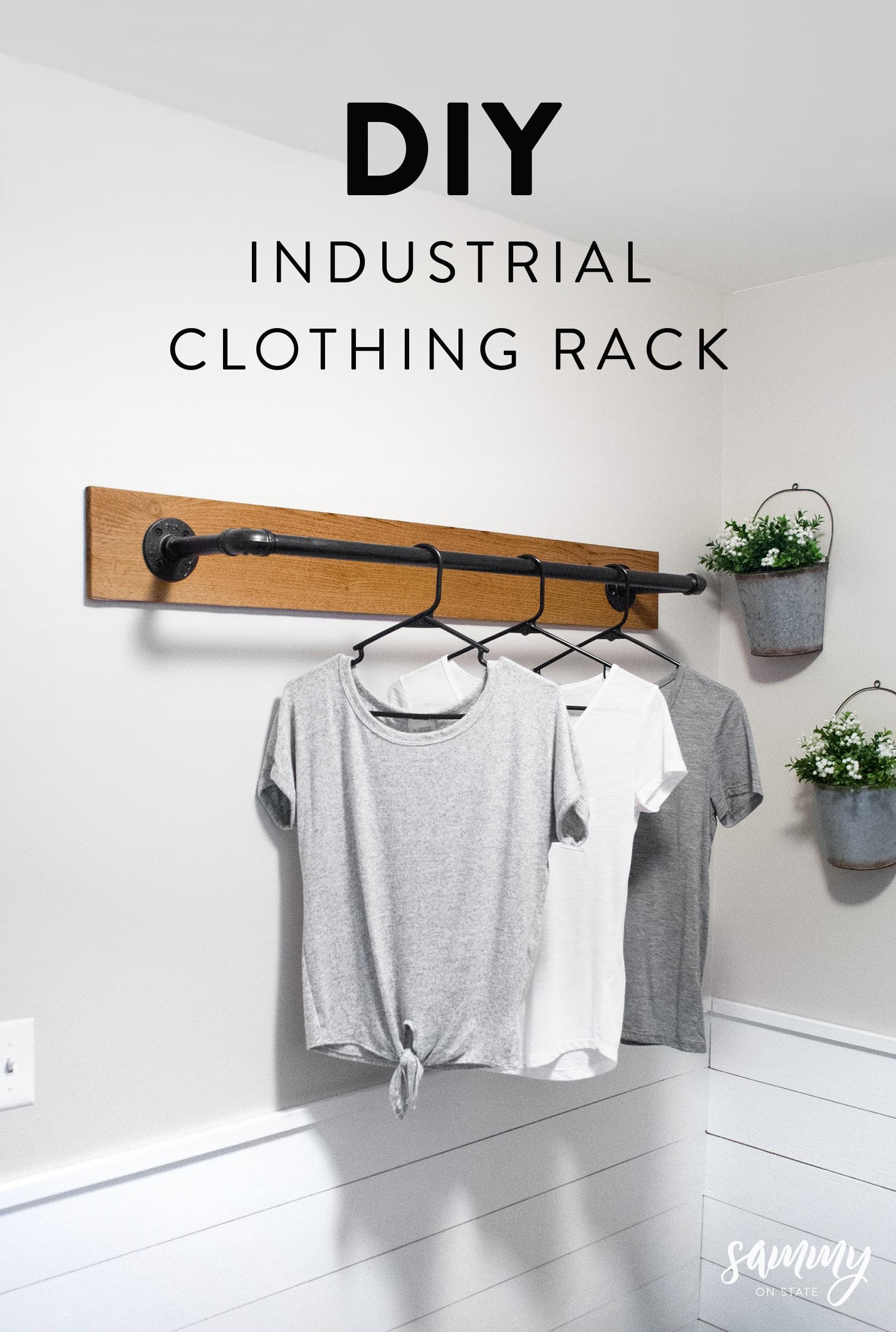 diy wall mounted clothing rack sammy