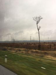 Blick aus dem Bus irgendwo zwischen Zagreb und Belgrad