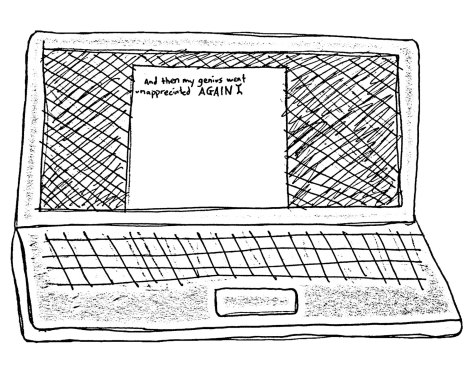 """""""Dear Diary."""" 3/26/13. Pen and pencil on paper. 6x8""""."""
