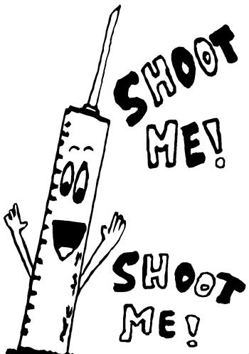 """Shoot Me."" 12/6/12. Pen. 5x7"""