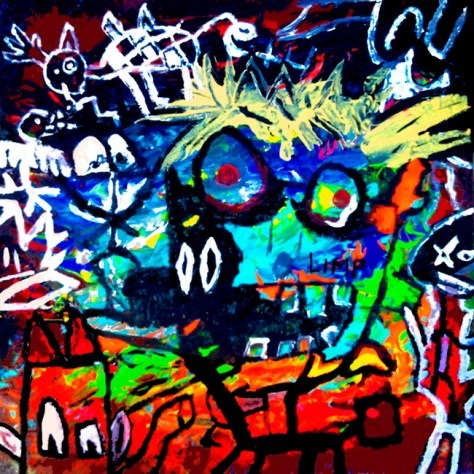 """Limp."" 4/28/13. Acrylic paint. 12x12""."