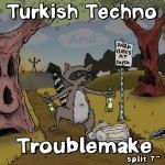 Turkish Techno / Troublemake split 7-inch. Traffic Street Records, 2009. Art by Gord Lafler.