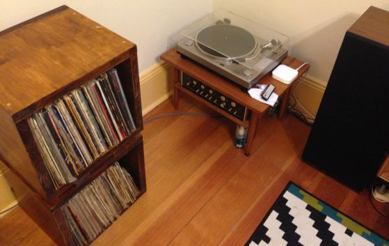 The great vinyl setup in my place, including our new storage solution