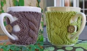 Как сделать вязанный чехол для чашки / Фото и идеи ...