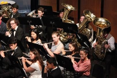 Band students playing image