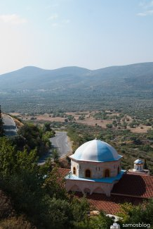 View towards Moni Megali Panagia