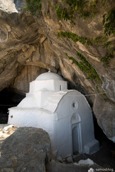 The chapel inside the cave