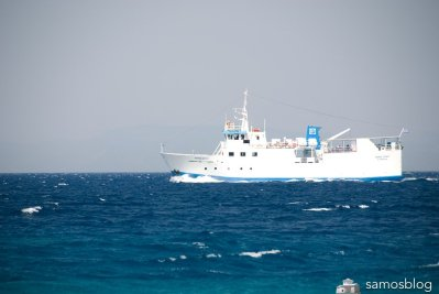 The old ferry Samos Spirit for Ikaria and Fournis