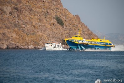 Flying Dolphin arriving at Patmos