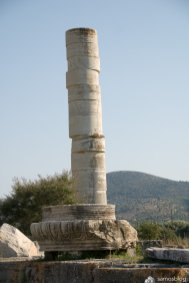 The last standing pillar at Hera temple