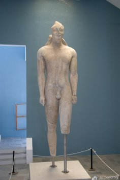 The famous kouros from Samos museum