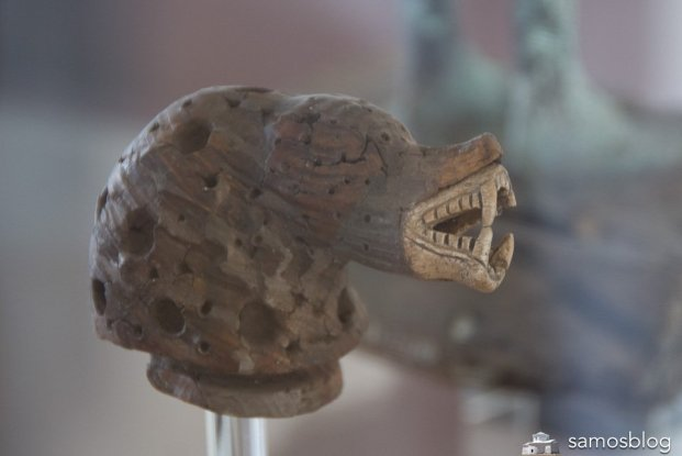Wood and ivory head from Samos museum