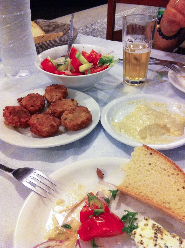 Various dishes, Taverna Psili Ammos