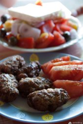 Meat balls, Anemoussa, Manolates