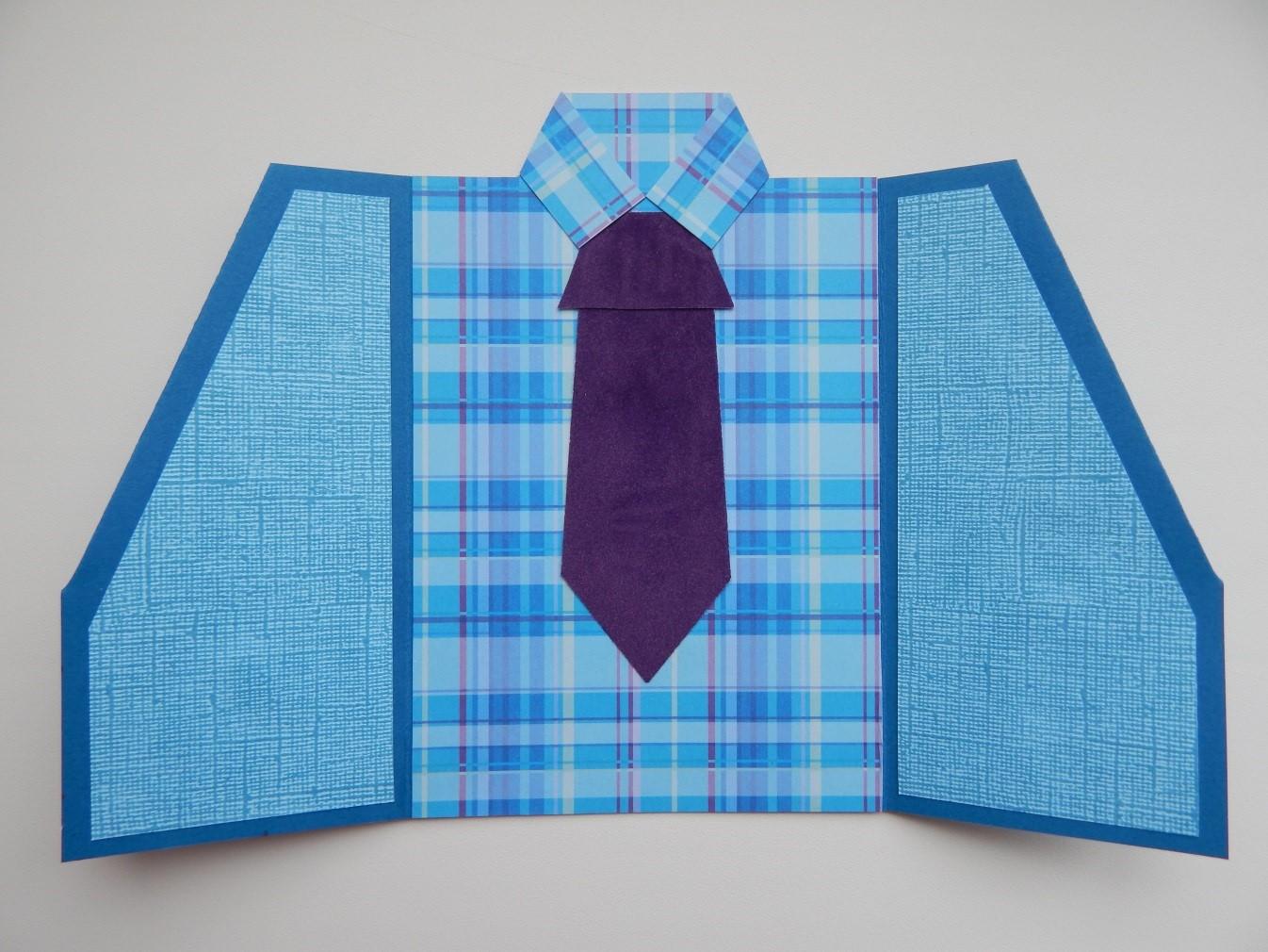 довольно открытка своими руками пиджак рубашка с галстуком под
