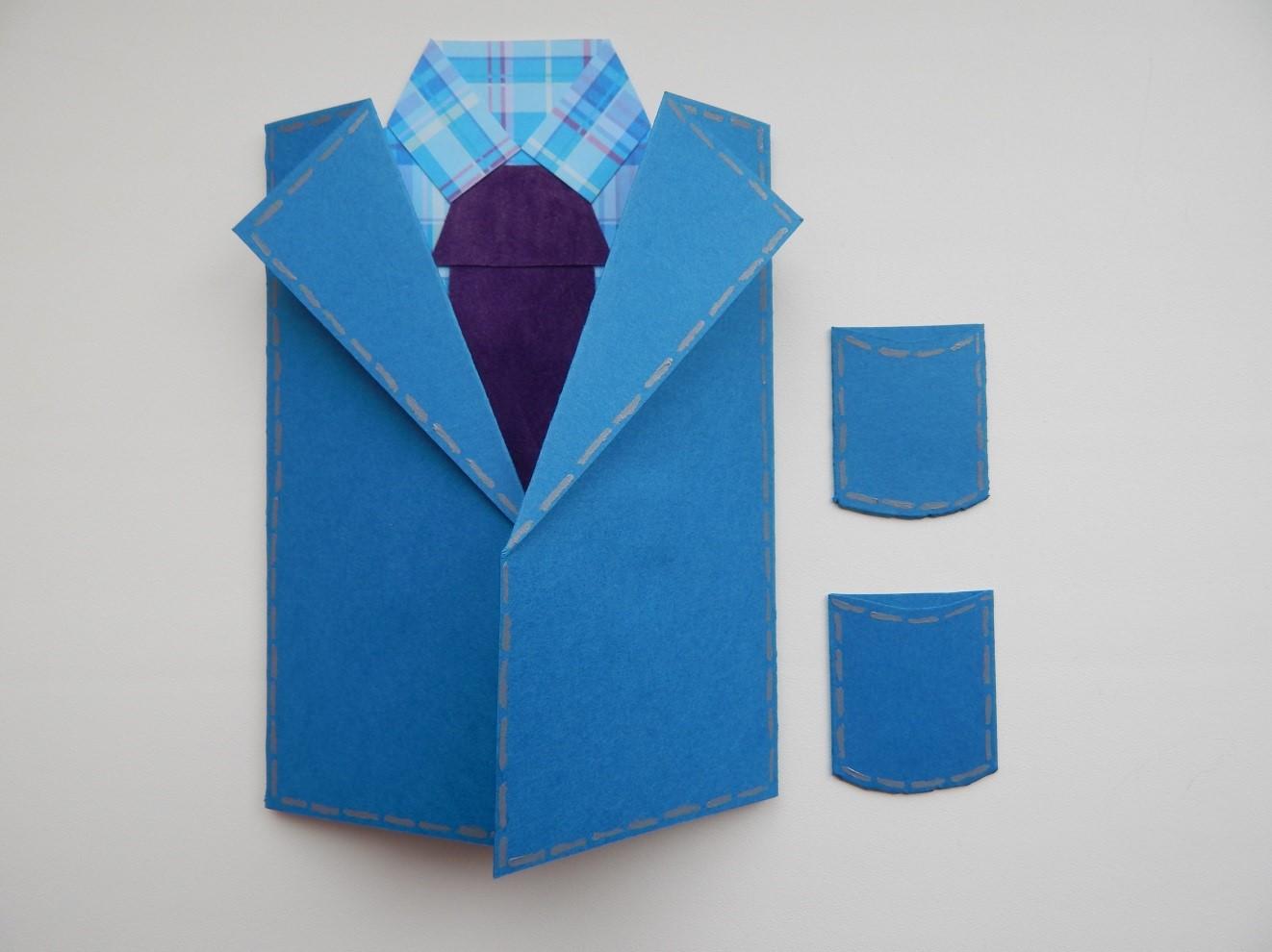 букет это открытка рубашка с галстуком своими руками пошаговая армейском корпусе