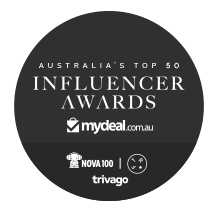 Australia Top 50 Influencers award badge