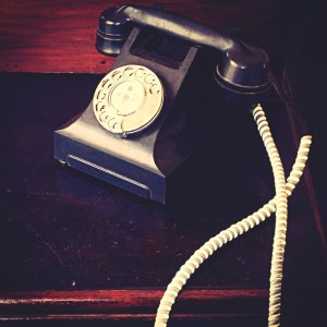 Contact Form and social media pages for Samuel Pavin Group Limited - picture of a vintage phone