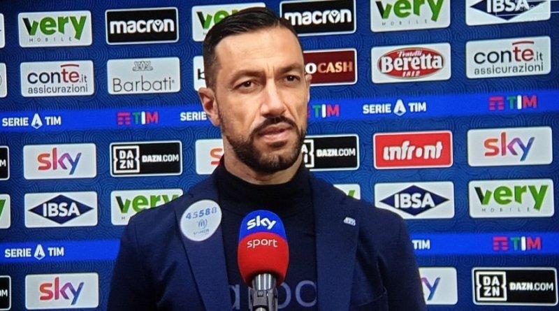 """Quagliarella: """"Soddisfazione essere gli ultimi ad aver battuto l'Inter, oggi vogliamo onorare i tifosi e la maglia""""."""