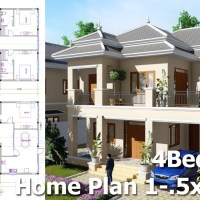 4 Bedroom Villa Design Idea 10,5m x14,5m