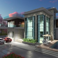 4 Bedroom Modern Villa design Size 15.5x22.4m