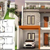 5 Bedrooms Home Design Plan 7x17