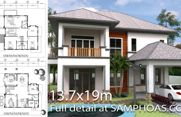 House Design Plan 7 6x10 6m With 5 Bedrooms House Plans 3d