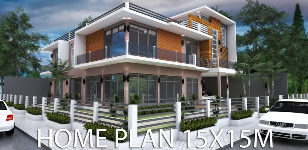 Modern 6 Bedrooms Home Plan 15x15m