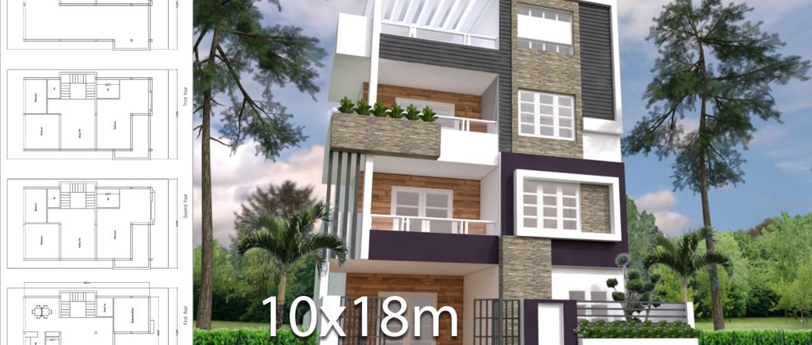8 Bedrooms Home Plan 8x14m