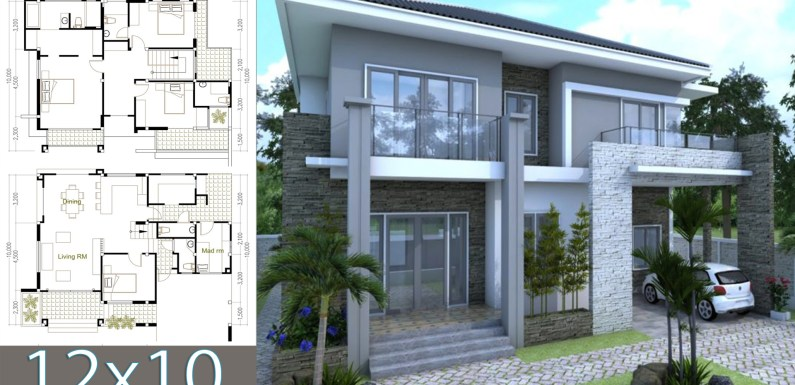 5 Bedrooms Modern Home 10x12m